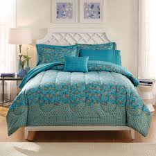 formula seafoam medallion reversible bed in a bag bedding set