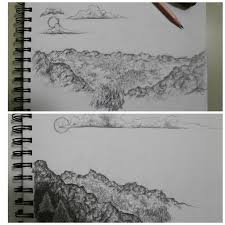 mountain sketches by pixelcollie on deviantart