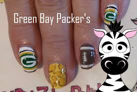 green bay packers nail art tutorial request youtube