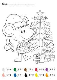 coloring pages christmas addition math activity free for