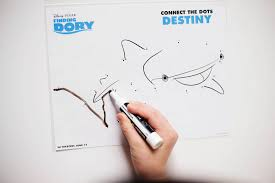 finding dory printable coloring pages maze u0026 dot to dots u2014 all
