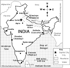 map of india sketch coloring page