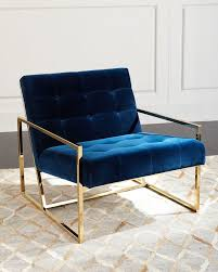 Jonathan Adler Sofas by Jonathan Adler Goldfinger Lounge Chair Something Blue