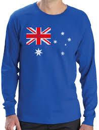 Austailia Flag Australian Flag Vintage Style Retro Australia Flag Long Sleeve T