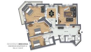 three bedroom apartments three bedroom apartment residence brehova