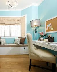 lovely tiffany blue home office makeover as seen in real living