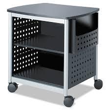 safco scoot printer stand 26 1 2w x 20 1 2d x 26 1 2h black