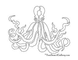 bats stencils free octopus stencil free stencil gallery
