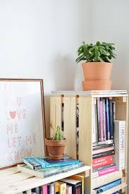 Crate Bookcase Diy Crate Bookcase Burkatron