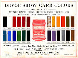 dull tool dim bulb show card colors devoe and raynolds the