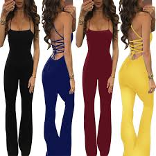 trendy jumpsuits 2017 summer overalls sleeveless patchwork rompers womens