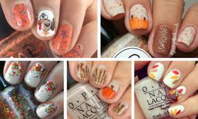 and easy thanksgiving day nail ideas