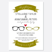 perfect pair wedding invitation glasses invitation couple