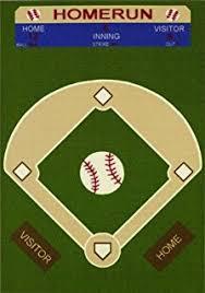 Baseball Area Rug Interestprint Baseball Field Area Rugs Carpet 7 X 5