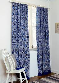 Navy Window Curtains Blue Curtains Navy Window Bohemian Nautical Home Decor