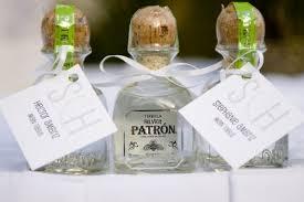 edible wedding favor ideas mini tequila bottles wedding favors wedding