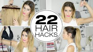 22 hair hacks for thick hair youtube