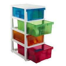 Drawer Storage Cabinet J Burrows 4 Drawer Storage Cabinet Colour Officeworks