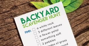 Backyard Scavenger Hunt Ideas Printable Back Yard Scavenger Hunt Hey Let U0027s Make Stuff
