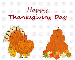 thanksgiving day symbols turkey and harvest royalty free vector
