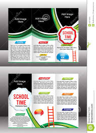 tri fold school brochure template tri fold school brochure template stock vector illustration