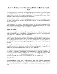 how to write a free resume examples of good resumes that get jobs examples for a resume how to make a good resume for a job free resume example and
