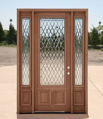 wood and glass exterior doors diamond pattern glass in a solid core wood door u003c3 main entrance