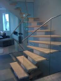 L Shaped Stairs Design Indoor Wooden Design L Shaped Stairs With Stainless Steel Glass