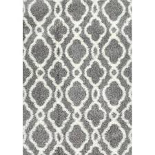 Grey Shaggy Rugs White Gray Area Shag Rug