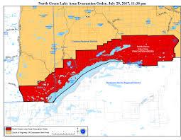 Wildfire Map Kamloops by Breaking Evacuations Ordered For Green Lake 70 Mile Watch Lake