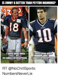 Peyton Superbowl Meme - is jimmygbetter than peyton manning tombradysego pale9 2 super bowl