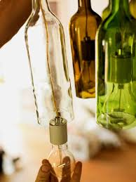 How To Make A Mini Chandelier How To Make A Chandelier From Old Wine Bottles How Tos Diy