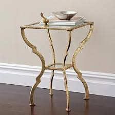 Glass Accent Table Sutton Gold Accent Table