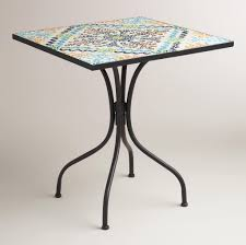 Tile Bistro Table Furniture Appealing Square Shaped Mosaic Bistro Table Design