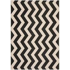 Black And White Zig Zag Rug Safavieh Courtyard Zig Zag Black Beige Indoor Outdoor Rug Free