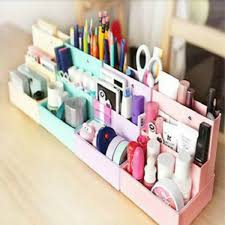 Diy Desk Decor Foldable Mini Diy Paper Board Storage Desk Decor Stationery