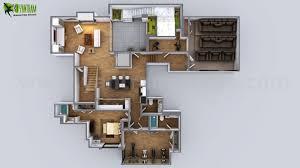 3d floor plan of modern house melbourne australia by yantram floor