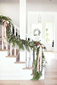 Banister Christmas Garland Holiday Banister Decorating Ideas U2013 Satsuma Designs