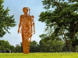 Outdoor Decor Statues Corten Steel 50 Very Trendy Garden Decor Ideas 1001 Gardens