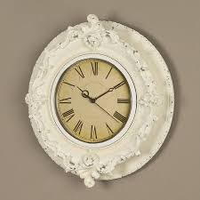 decorative french white clock by dibor notonthehighstreet com