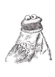 cookie monster sketch by ditch scrawls on deviantart