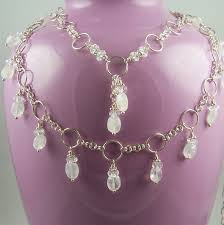 quartz rock necklace images Necklace multistrand necklace rainbow moonstone gemstone jpg