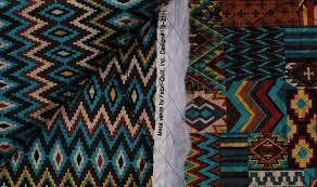 sided pre quilted cotton aztec southwestern southwest