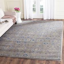 Gray And Yellow Rugs Safavieh Evoke Gray Ivory 8 Ft X 10 Ft Area Rug Evk220d 8 The