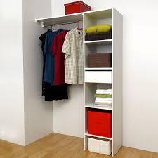 armoire chambre 120 cm largeur symbiosis kit aménagement placard 120 cm 1 tiroir 1 penderie