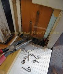 Remove Patio Door by How To Repair A Rotted Exterior Door Frame Handymanhowto Com