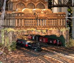 the g scale trains below the station picture of new york