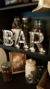 bar sign galvanized metal letters home decor for sale in los