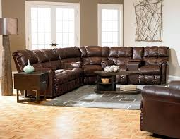 Brown Leather Recliner Sofa Set Reclining Modern Furniture Tags Contemporary Leather Reclining