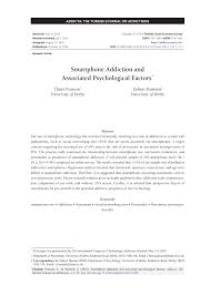 smartphone addiction and associated psychological factors pdf